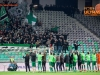 Players of Olimpija celebrate after winning during 1st Leg football match between NK Olimpija Ljubljana and NK Maribor in Semifinal of Slovenian Football Cup 2016/17, on April 5, 2017 in SRC Stozice, Ljubljana, Slovenia. Photo by Vid Ponikvar / Sportida