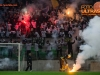 Viole, supporters of Maribor celebrate after Milivoje Novakovic scored first goal for Maribor during football match between NK Olimpija and NK Maribor in Round #13 of Prva liga Telekom Slovenije 2016/17, on October 15, 2016 in SRC Stozice, Ljubljana, Slovenia. Photo by Vid Ponikvar / Sportida