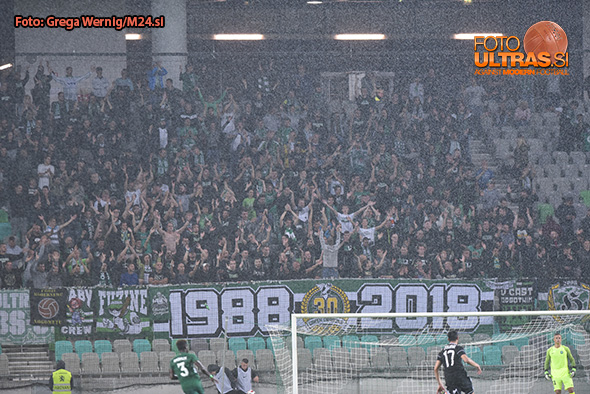 Soccer/Football, Ljubljana, Champions League Qualification Match (NK Olimpija - Qarabag), Green dragons, 11-Jul-2018, (Photo by: Grega Wernig / M24.si)