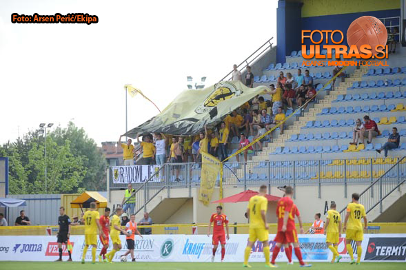Soccer/Football, Slovenia, Domzale, First Division (NK Radomlje - NK Rudar Velenje), , 02-Aug-2014, (Photo by: Arsen Peric / Ekipa)