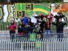 Soccer/Football, Slovenia, Velenje, First Division (Rudar Velenje - Domzale), Football team Rudar fans, 29-Mar-2014, (Photo by: Arsen Peric / Ekipa)