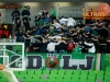 Green Dragons, supporters of Union Olimpija during basketball match between KK Union Olimpija Ljubljana (SLO) and Brose Baskets Bamberg (GER) in 1st Round of EuroCup LAST32, on January 7, 2015 in Arena Stozice, Ljubljana, Slovenia.  Photo by Vid Ponikvar / Sportida