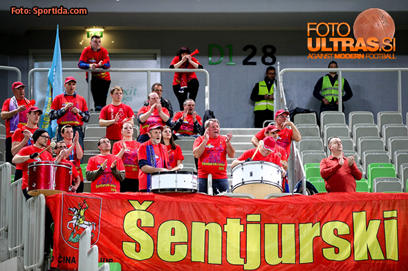 Fans of Tajfun during basketball match between KK Union Olimpija Ljubljana and KK Tajfun Sentjur in Round #2 of Telemach League 2015/16, on March 23, 2016 in SRC Stozice, Ljubljana, Slovenia. Photo by Matic Klansek Velej / Sportida
